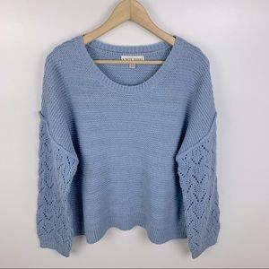 NWOT Knox Rose Knit Sweater Pointelle Sleeve XXL